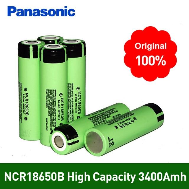 100%新しいオリジナルncr18650b 3.7ボルト3400 mah 18650リチウムリチウムイオン充電式バッテリーパナソニック懐中電灯電池