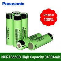100% original novo ncr18650b 3.7 v 3400 mah 18650 lítio li-ion bateria recarregável para panasonic lanterna baterias