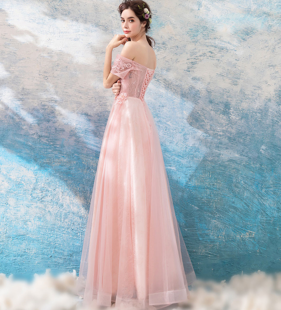 QUEEN BRIDAL Evening Dresses 2018 New Design A line Short Sleeve ...