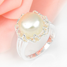 Hot Sale Wedding Jewelry Pearl Rings For Women Engagement Jewelry High Quality Bijoux