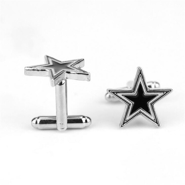 Star Shaped Cufflinks Pairs Cuffs Buttons Pins Shirts