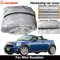 Cawanerl For Mini Roadster 2012 2015 Waterproof Car Cover Inner Cotton Outdoor Sun Shield Rain Snow Hail Protect Cover
