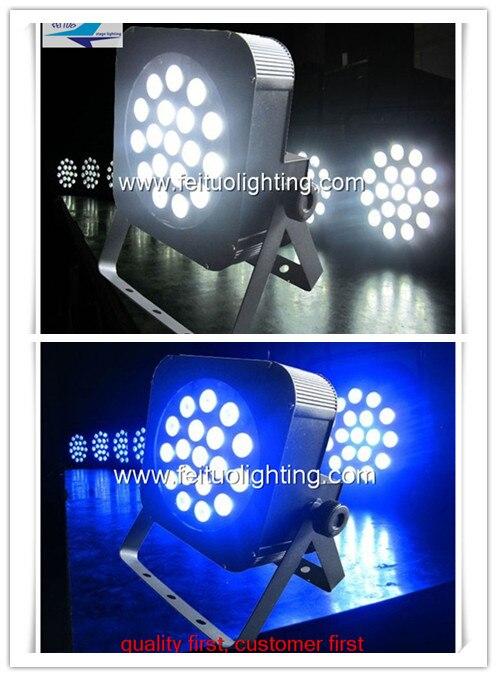 O- 2Xlot Par Led 18X10 Watts Slim Par Can Quad 4IN1 RGBW Led Par Light For DJ Disco Stage Decoration