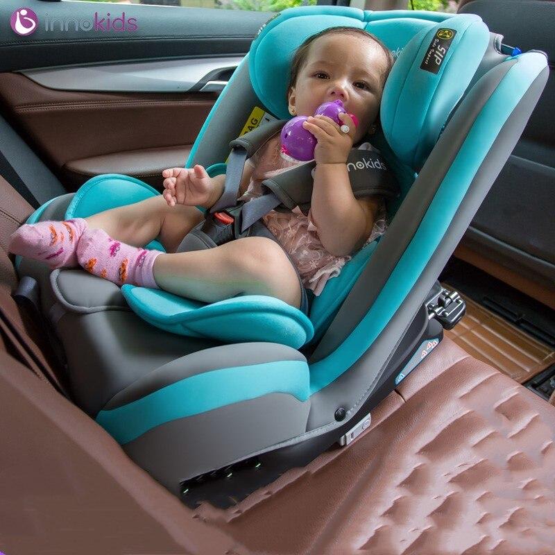Siège de sécurité pour enfant de voiture pour 0-12 ans peut s'asseoir couché 360 degrés rotation isofix interface Deux- chemin d'installation