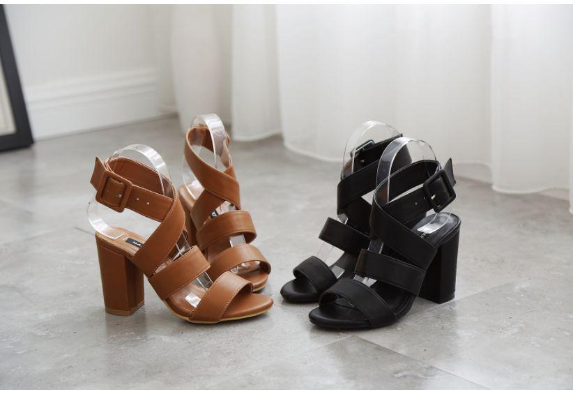 Talón Sandalia Strap 9 Verano Ankle Zapatos Mujer De Cm Negro Marrón Sandalias Negro Bloquear Señoras Femenina Tie Estilo Alta Xf117 Cruz Sexy marrón Europeo pYHwntqHR