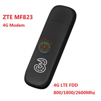 ZTE MF823 MF823D 4G LTE FDD 800/1800/2600Mhz Wireless Modem USB Stick Dongle Data Card Mobile Broadband mf820 mf821 mf79 mf910