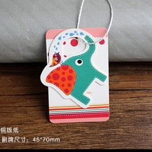 Customized Kids Wearings Paper Card Hang Tags