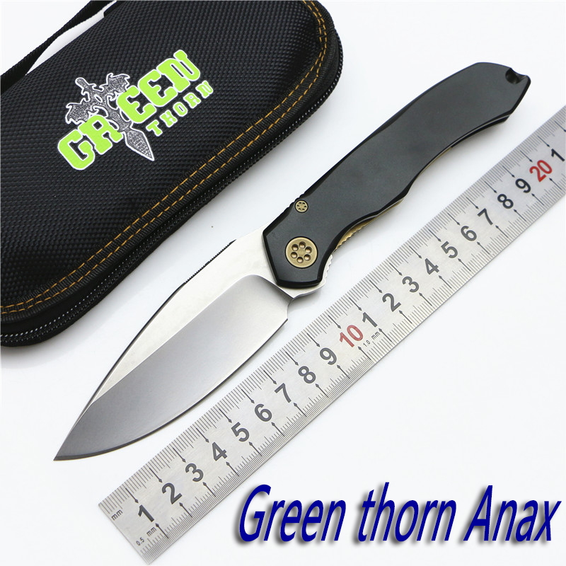 Green Thorn 2016 Ana Bearing Tactical Folding Knife D2 Blade Aluminum Handle Camping Hunting Outdoors Fruit