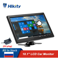 Hikity 10.1 LCD HD Monitor Mini TV & Computer Display Color Screen 2 Channel Video Input Security Monitor With Speaker HDMI VGA