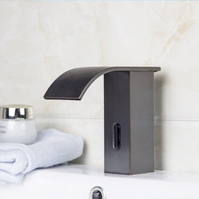 FLG Copper Basin Faucet Bathroom Vanity Infrared Sensor Faucet ...