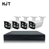 HJT 5.0MP Built in IP Camera CCTV Cam H.265/H.264 4CH NVR Kit System P2P IR IP66 Weatherproof Security Surveillance Set Email