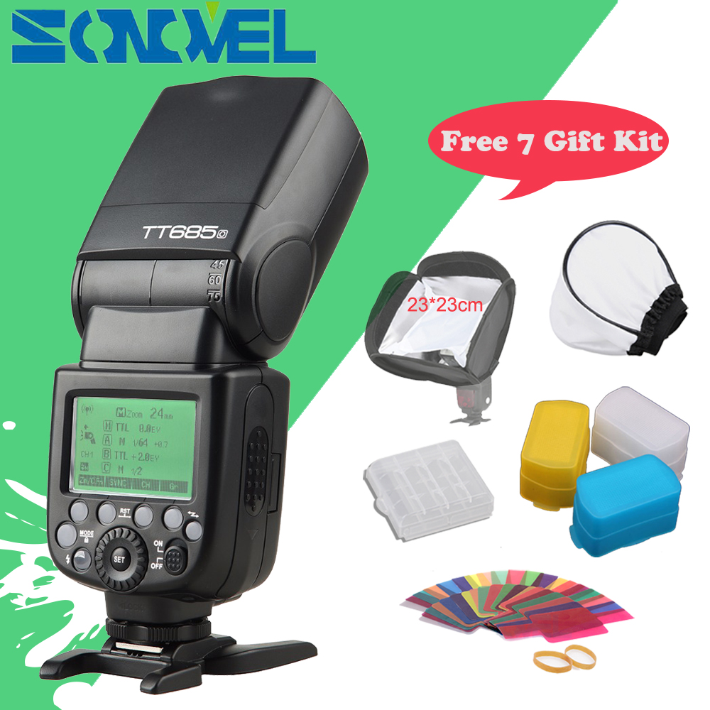 En Stock Godox TT685O 2.4G HSS 1/8000 s je-TTL GN60 Sans Fil Speedlite Flash pour Olympus/Panasonic DMC-FZ2500GK GH4 GH3 + Cadeau Kit
