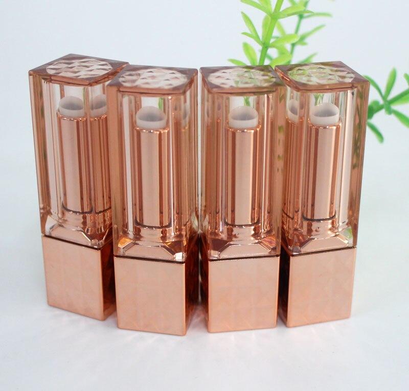 50 개/몫 플라스틱 광장 립스틱 튜브 12.1 컵 크기 로즈 골드 립 루즈 튜브 명확한 뚜껑 포장-에서리필 병부터 미용 & 건강 의  그룹 1