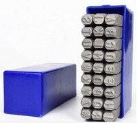 6 1CM DIY Handmade Alloy Steel Stamp Leather Carving Alphabet Seal