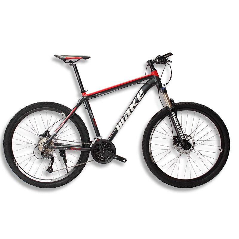 MAKE Mountain Bike Aluminum Frame 17 19 Shimano 27 Speed 26 27,5 Wheel Hydraulic/Mechanical Brake