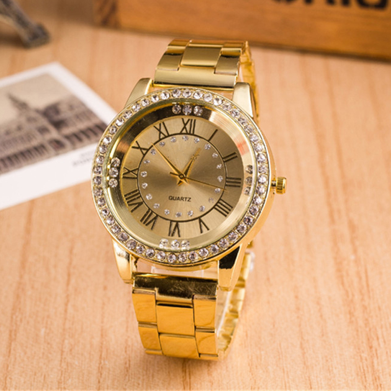 2017 New Rose Gold Watch Women's Stainless steel Dress Clock Analog Casual Wristwatches Ladies Crystal Quartz Watches LZ2228 new 2017 brand jw crystal bracelet watches women clock luxury rose gold dress wristwatches ladies casual analog quartz watch