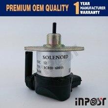 Fuel shut off solenoid Kubota 1C010-60015 1C010-60016 1C010-60017 1C010-60014 16851 60010 16851 60014 for kubota fuel shut off solenoid b7410d bx1500d bx1800d bx1830d bx2230d