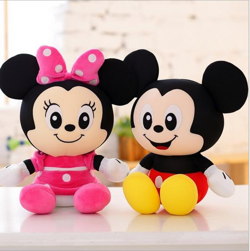 Version Q 20cm Plush Mickey Mouse And Donald Duck Mickey & Minnie Plush Doll Foam Particles Toys Children's Day Gift