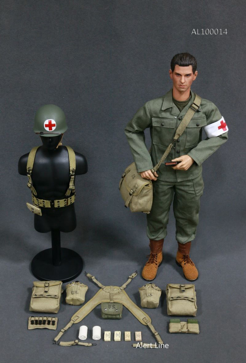 1:6 Scale WWII U.S.Army Military Surgeon Suit Soldier Clothing Model AL100014 For 12 Inches Action Figures world war ii german wwii wehrmacht officer 1 6 soldier set model stanford erich vo gm637 for gift collection