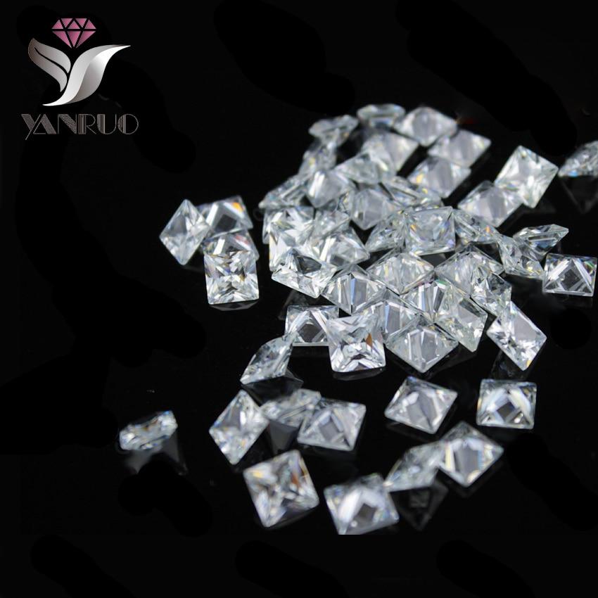 YanRuo  4447 500pcs 2mm Square White Shiny Cubic Zirconia Stone Diamond  Diamant Gems nails Rhinestones-in Rhinestones   Decorations from Beauty    Health on ... 8467f6b5d159