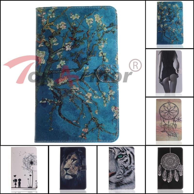 """10 видов стилей PU кожаный чехол для samsung Galaxy Tab 4 8,0 T330 8,0 """"Tablet чехол для samsung Galaxy Tab 4 8,0 стент противоскольжения Случай"""