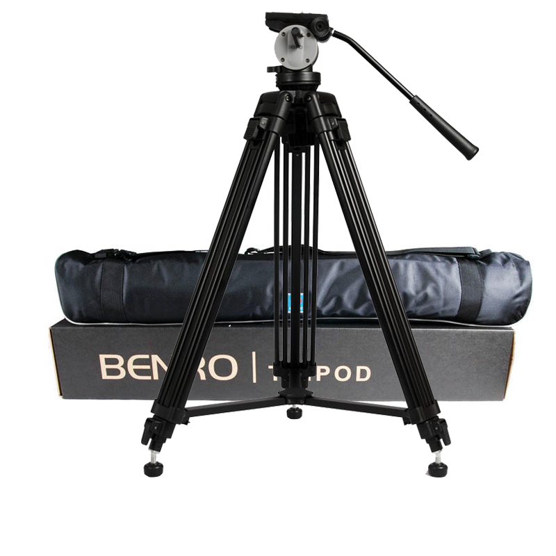 wholesale DHL Pro BENRO KH25N KH-25N Video Camera Tripod Professional Hydraulic Head Magnesium Alloy Tripod+Video Tripods Bag benro pc0 head professional panoramas heads for camera magnesium alloy panhead panoramas clamp max loading 5kg dhl free shipping