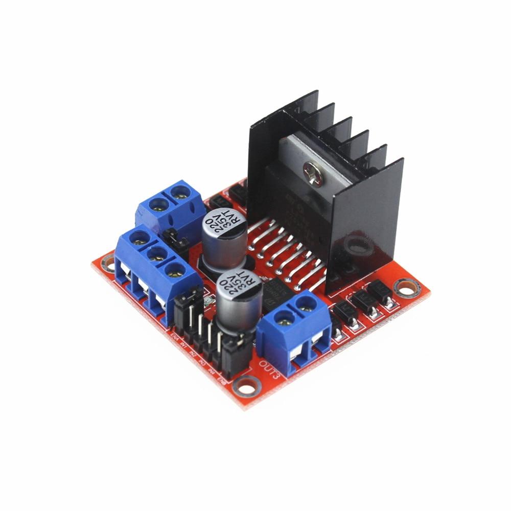 Adeept DIY New Dual H Bridge DC Stepper Motor Drive Controller Board Module L298N for arduino Raspberry Pi Free Shipping