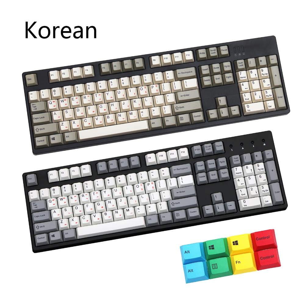 108 112 keys dye sublimated Korean printing pbt keycap for mechanical keyboard Cherry Filco Ducky keycap