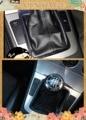 6 velocidad negro de cuero de la PU de palanca de cambio mando Passat B6/B7