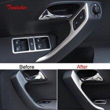 Tonlinker интерьерные двери подлокотники ручка крышка наклейка для Volkswagen POLO 2012-18 автомобильный Стайлинг 4 шт Наклейка из нержавеющей стали
