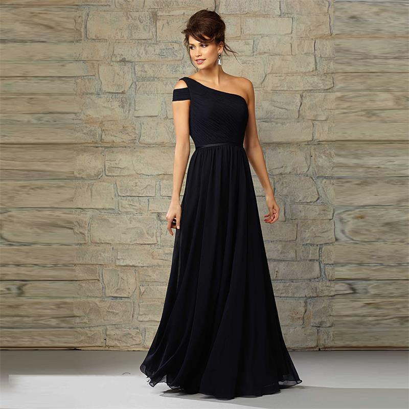 Online Buy Wholesale long black chiffon bridesmaid dresses from ...