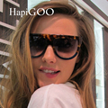 HapiGOO 2016 Novo Gradiente Óculos De Sol Das Mulheres Marca de Moda Designer de óculos de Sol de Grandes Dimensões Do Vintage Óculos Femininos Óculos de sol Flat Top Grande Quadro Shades