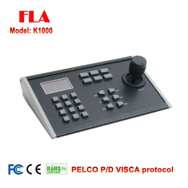 HD RS232/RS422/RS485 3D Joystick Camera Controller Keyboard for HD PTZ Camera, Conference Camera with Pelco D/P Visca Protocol top dvi usb3 0 3 3mp ptz video conference camera hd 1 2 8 cmos 20x zoom visca pelco for professional education training system