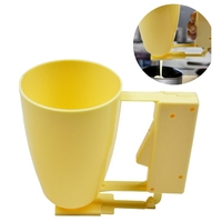 Yellow Plastic Batter Dispenser Cup Cupcake Meat Ball Baking Tools Kitchenware Quick Release Home Kitchen Baking