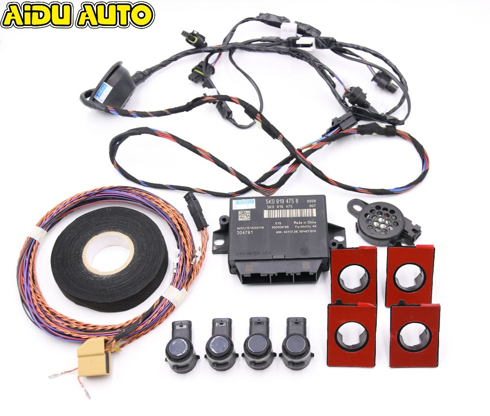 5KD919475B Rear OPS 4K Park Pilot 4 Parking Sensors Kit For VW Golf 6 MK6 Jetta 5 MK5 Passat CC 5KD 919 475 B
