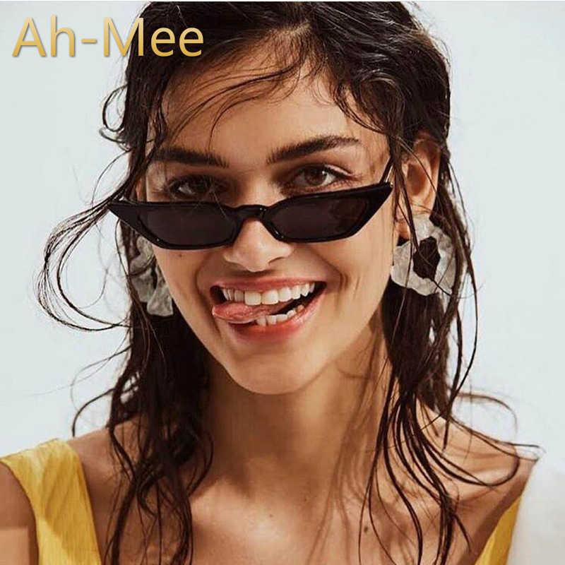 Pequeño Marco de ojo de gato gafas de sol de las mujeres Vintage de diseñador de marca, gafas de sol de mujer rojo retro tonos de moda barato espejo gafas
