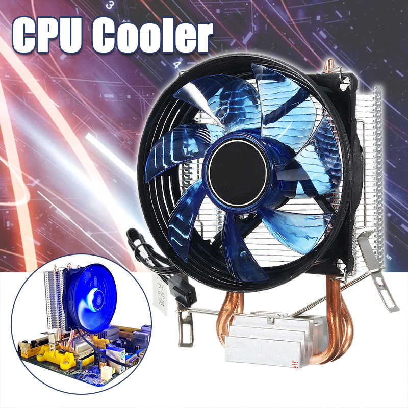 3Pin Power LED CPU Cooler Fan Heatsink Quiet Cooler For Intel Socket LGA1156/LGA1155/LGA775 AM3 AMD Hydraulic Fan