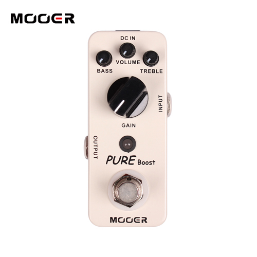 MOOER Pure Boost Pedal,True bypass Full metal shell Guitar effect pedal diy booster boost clean guitar effect pedal boost true bypass booster kits fp