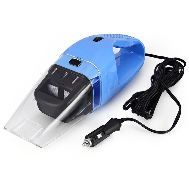 Car Vacuum Cleaner Handheld Mini Super Suction Wet And Dry Dual Use Vaccum Cleaner For Car Auto Blue Accessories Portable