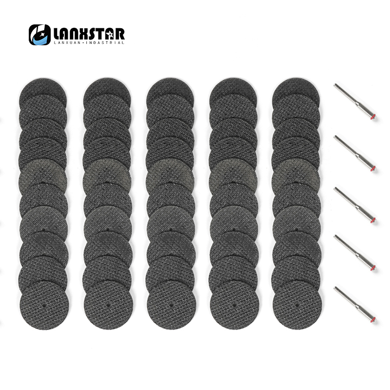 Tungfull 50PC Abrasive Tools Fiberglass Reinforced Cutting Disc Cut Off Wheel with 4 Mandrels Fit Rotary Tool Accessories