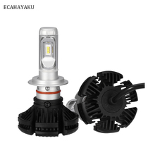 ECAHAYAKU X3 series Car led headlight bulb kit 6000K 72W 6000LM H1 H3 H7 H11 9005 9006 H4 Fog Light 4x4 suv offroad