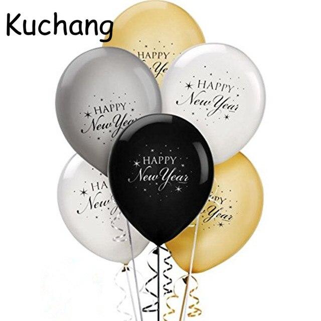 20pcs Lot 12inch Happy New Year Latex Balloons Merry Christmas New