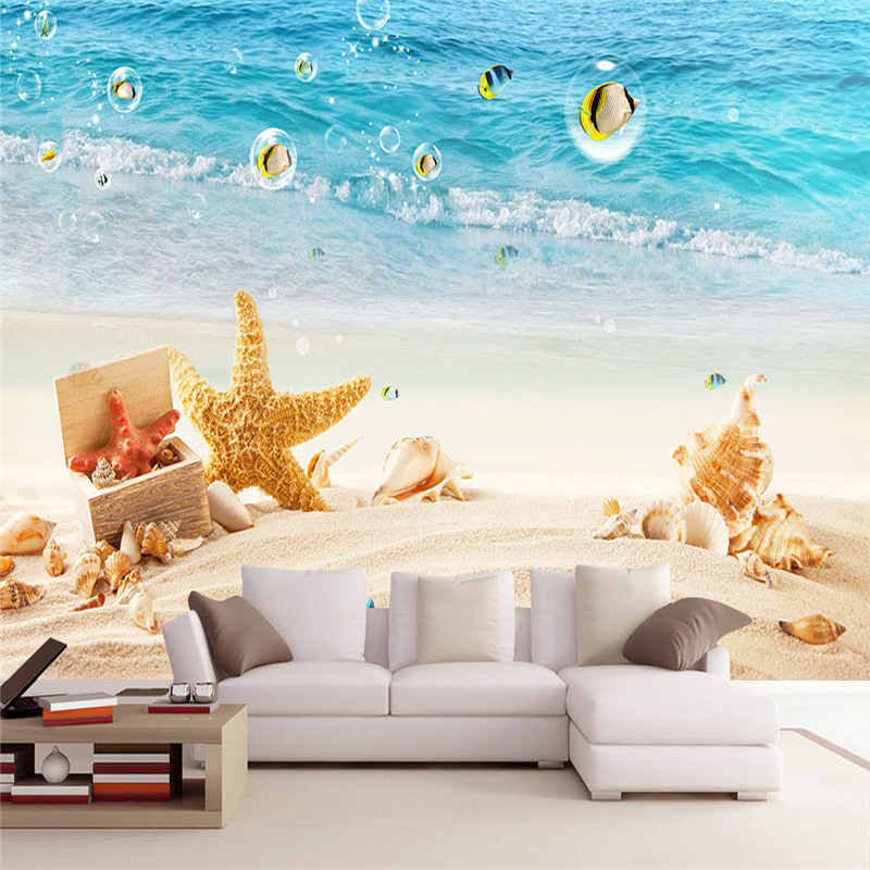 3D Custom Wallpaper Nature Scenery Wall Murals Home Decor Sea Beach Landscape Photo Walls Papers for Livingroom Bedroom Painting custom photo wallpaper natural scenery mangrove landscape custom wallpaper business hotel home decoration backdrop murals