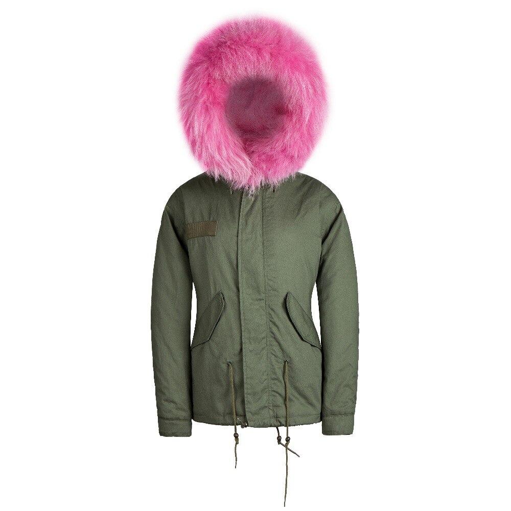 2018 Brand Winter faux fur Jacket Winter Coat Overcoat women Jacket Coat Outwear fur military jacket female