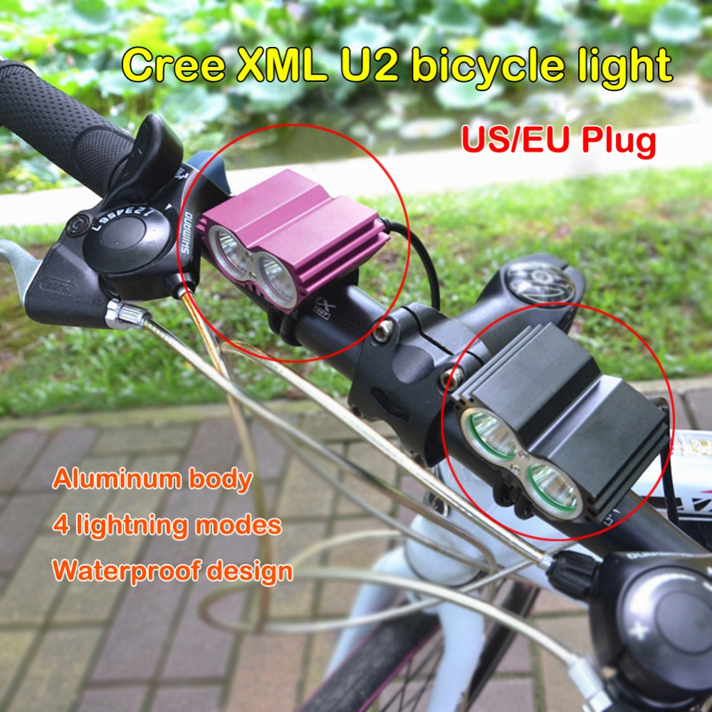 Cheap Waterproof Rechargeable Bicycle Light CREE XM-L U2 Led Rear Front Bike Light Safety Road mtb Mountain Flashlight