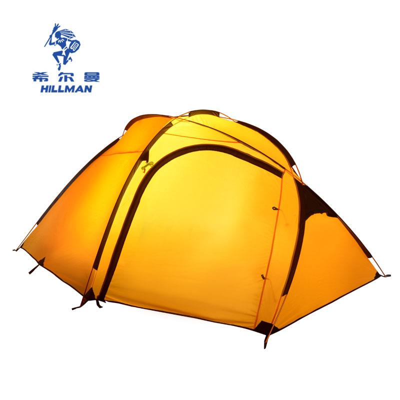Hillman Qingyun 3 4 people a large outdoor aluminum pole double layer camping tent 4seasons high