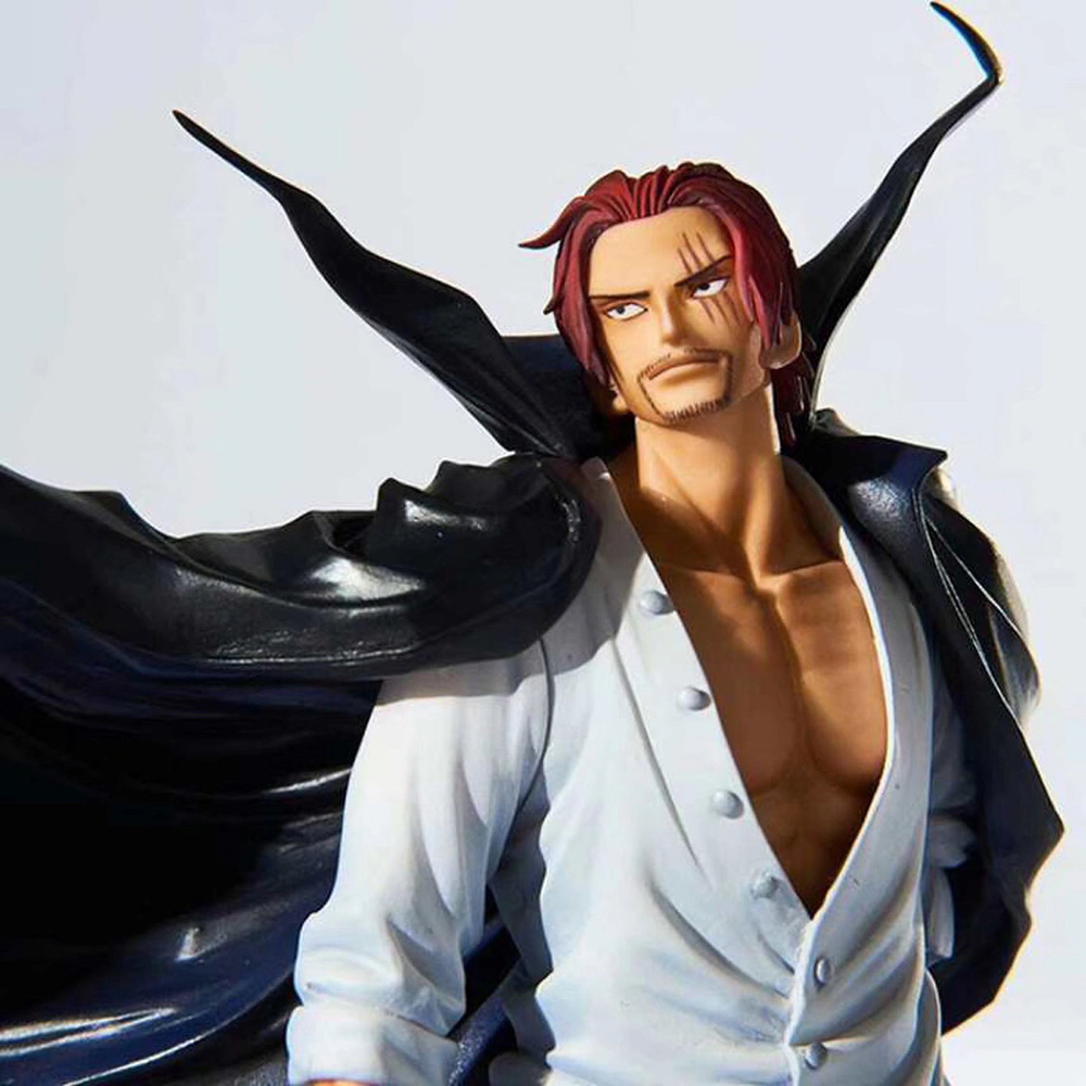 19cm New One Piece Figure Toy Pirate Red Hair Shanks PVC Collection Model Toy Dolls