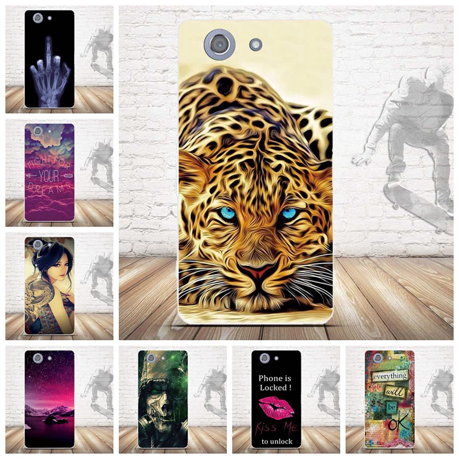 Cute Soft TPU For Coque Sony <font><b>Xperia</b></font> <font><b>Z3</b></font> Compact Case Silicon Back <font><b>Cover</b></font> For Funda Sony <font><b>Xperia</b></font> <font><b>Z3</b></font> Mini Case Capa