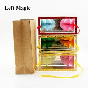 Image 4 - Mini Dream Bag/Verschijnen Bloem Doos (13*6.2*6.2Cm) goocheltrucs Super Delux Zak Verschijnen Bloem Lege Box Magic Props