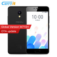 Original MEIZU M5C Global Version M710H 2GB 16/32GB Cell phone Android MTK6737 Quad Core 64Bit CPU 5.0